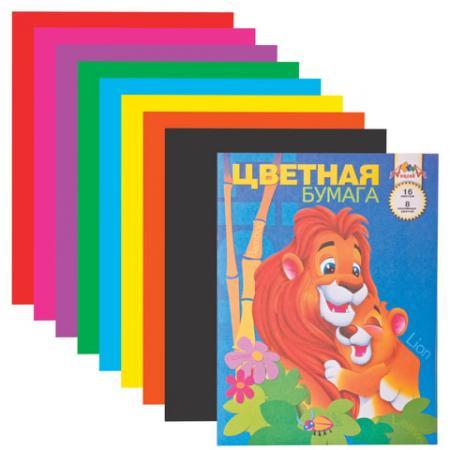Цветная бумага АППЛИКА АППЛИКА A4 16 листов