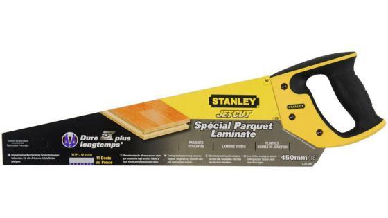 Stanley ножовка по дереву jet-cut laminator для ламинатных панелей с закаленным мелким зубом 11 х stanley ножовка по гипсокартону jet cut appliflon с закаленным зубом 7 х 450мм 2 20 149