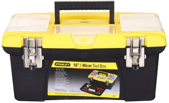 Stanley ящик для инструмента jumbo с 2-мя съемными органайзерами в крышке, отсеком для отверточных ящик для инструмента stanley jumbo 1 92 906