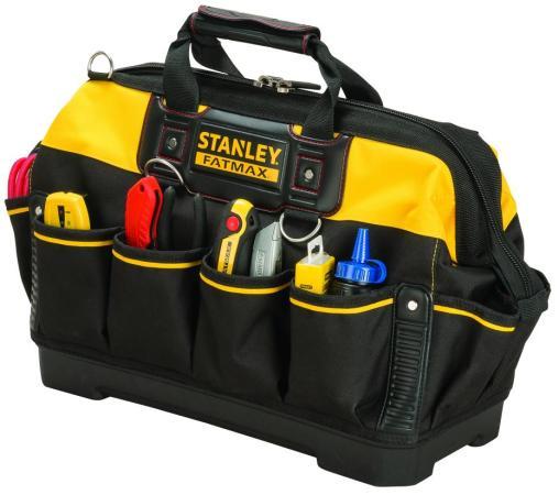 Stanley сумка для инструмента fatmax с пластмассовым дном нейлоновая (518150) 18 (1-93-950) сумка для инструмента stanley fatmax open tote 193951 18