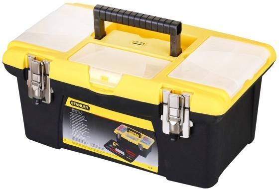 Stanley ящик для инструмента jumbo с 2-мя съемными органайзерами в крышке ящик для инструмента stanley jumbo 1 92 905