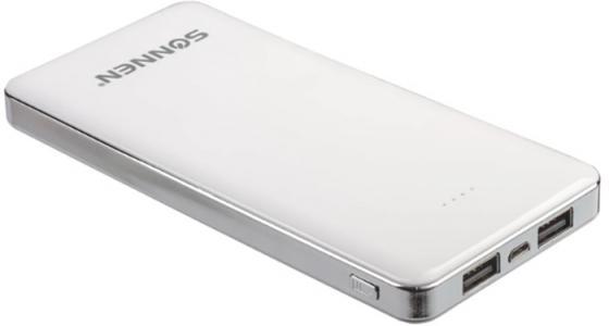 Аккумулятор внешний SONNEN POWERBANK V31, 12000 mAh, литий-полимерный, белый, 262757 цена и фото
