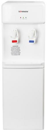 Кулер для воды SONNEN FS-02, напольный, нагрев/компрессорное охлаждение, 2 крана, белый, 452420