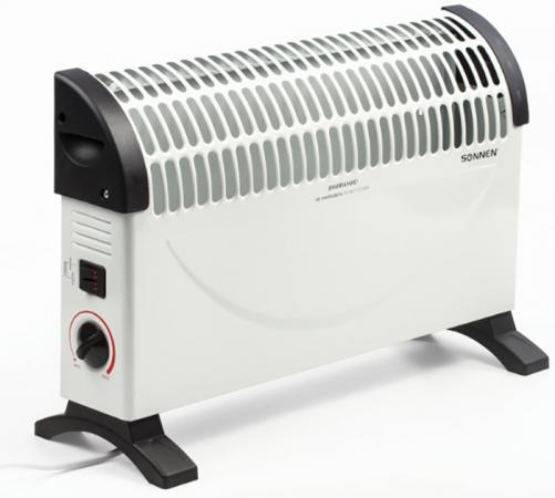 Обогреватель-конвектор SONNEN Y-02S, 1500 Вт, 3 режима работы, белый/черный, 453494