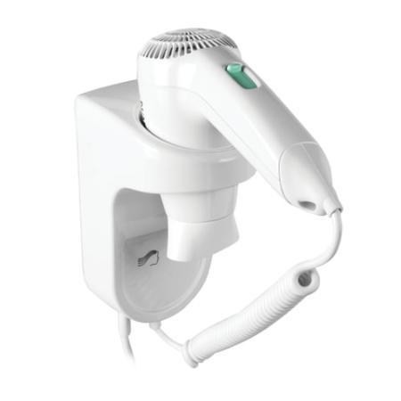Фен для волос настенный SONNEN HD-1288D, 1200 Вт, пластиковый корпус, 4 скорости, белый, 604197