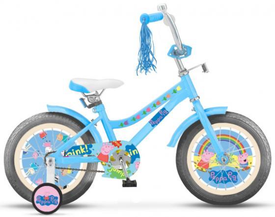 "Велосипед двухколёсный Navigator Peppa Pig 14"" голубой ВН14183 navigator peppa pig 16 kite"