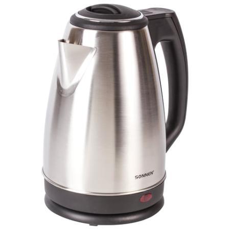 Чайник SONNEN KT-118, 1,8 л, 1500 Вт, закрытый нагревательный элемент, нержавеющая сталь, серебристый, 452926 все цены