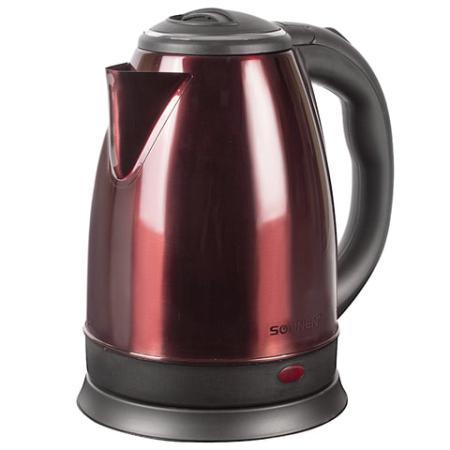 Чайник SONNEN KT-118С, 1,8 л, 1500 Вт, закрытый нагревательный элемент, нержавеющая сталь, кофейный, 452928 чайник sonnen kt 115