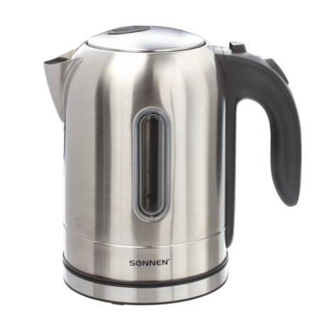 Чайник электрический Sonnen KT-1755 2200 Вт Нержавеющая сталь 1.7 л нержавеющая сталь чайник sonnen kt 1767 453416