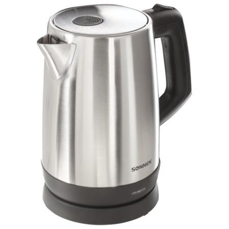 Чайник SONNEN KT-1785, 1,7 л, 2200 Вт, закрытый нагревательный элемент, нержавеющая сталь, 453420 чайник sonnen kt 1767 453416