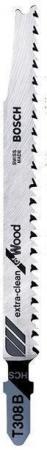 Пилки для лобзика BOSCH 2608663753 100шт. Т 308 ВHCS