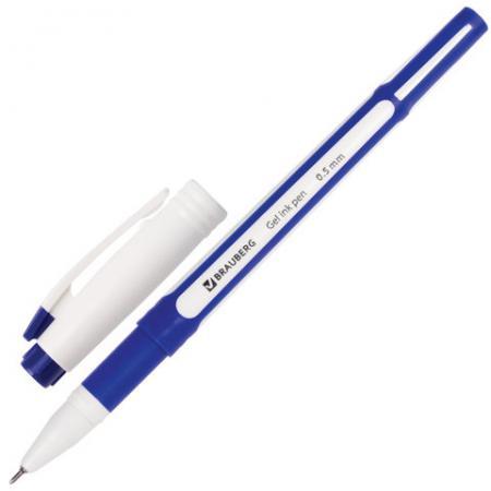 Ручка гелевая BRAUBERG Contract, корпус синий, игольчатый узел 0,5 мм, линия 0,35 мм, синяя, 141184 ручка гелевая brauberg geller синяя 0 35мм
