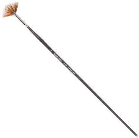 Кисть художественная профессиональная BRAUBERG ART CLASSIC, синтетика мягкая, веерная, № 4, длинная ручка