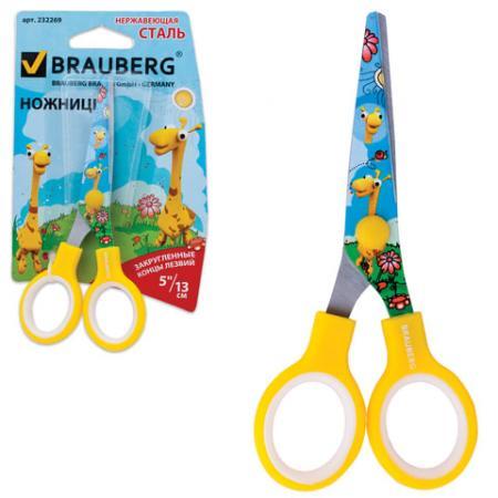 Ножницы детские BRAUBERG Жирафы 13 см ножницы детские attache длина 13 см