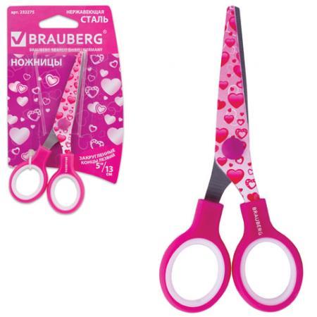 Ножницы детские BRAUBERG Сердечки 13 см ножницы детские attache длина 13 см