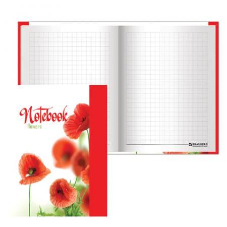 """Блокнот BRAUBERG """"Красные маки"""" A6 80 листов"""