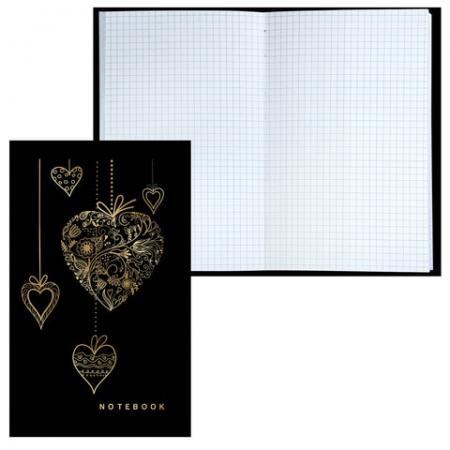 Блокнот BRAUBERG Сердечки A5 80 листов
