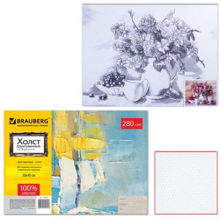 Холст на картоне BRAUBERG ART CLASSIC Цветы