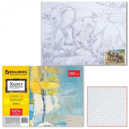 Холст на картоне BRAUBERG Слоны цена и фото