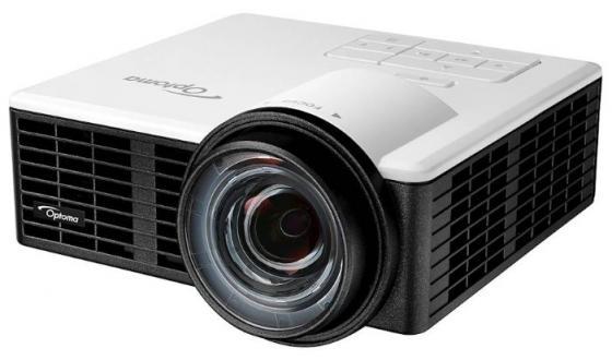 Проектор Optoma ML1050ST (DLP, LED, WXGA 1280x800, 1000Lm, 20000:1, HDMI, MHL, USB, MicroSD, Universal I/O, 1x1W speak) проектор optoma w320ust dlp 3d 1280x800 4000 ansi lm