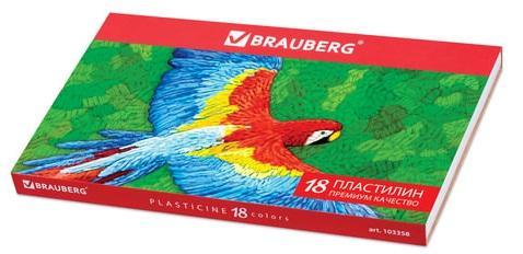 Фото - Набор пластилина BRAUBERG классический 18 цветов набор пластилина brauberg классический 10 цветов 103349