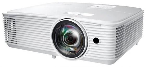 Проектор Optoma X318STe (DLP, XGA 1024x768, 3700Lm, 22000:1, 2xHDMI, MHL, LAN, 1x10W speaker, 3D Ready, lamp 15000hrs) проектор viewsonic px800hd dlp 1080p 1920x1080 2000lm 10000 1 hdmi mhl 2x10w speaker 3d ready lamp 7500hrs