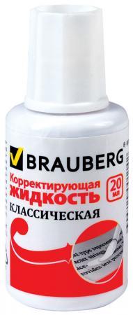 Корректирующая жидкость BRAUBERG 220255 20 мл все цены