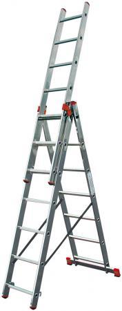 Трехсекционная универсальная лестница TRIBILO 3х6 krause tribilo 3x12