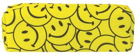 Пенал-косметичка BRAUBERG, с наполнением (линейка, карандаш, точилка, резинка), Смайл, 20х7х4 см, 225528