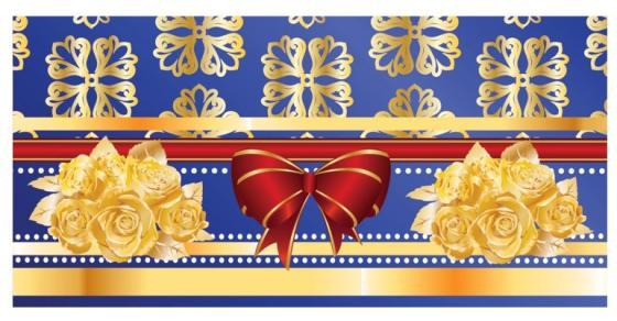 Конверт для денег BRAUBERG Розы на синем 1 шт 215 г/м2 с рисунком