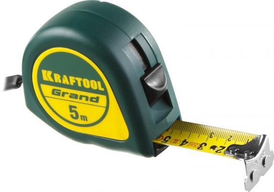 купить KRAFTOOL GRAND 5м / 25мм рулетка с ударостойким корпусом (ABS) и противоскользящим покрытием недорого
