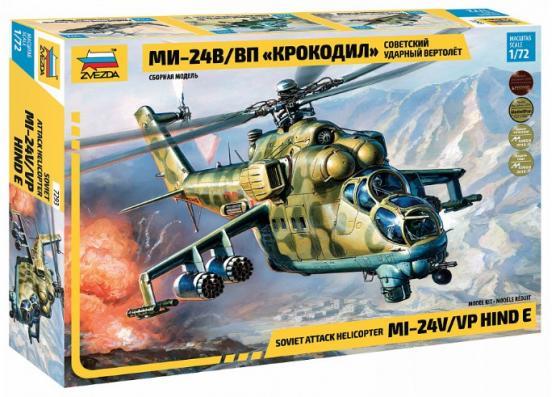 Вертолёт ЗВЕЗДА Советский вертолет Ми-24 В/ВП 1:72 камуфляжный цена