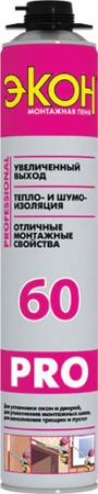 """ПЕНА МОНТАЖНАЯ """"ЭКОН 60"""" ПРОФИ 750 МЛ (1/16) ХЕНКЕЛЬ"""