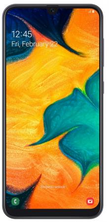 Смартфон Samsung Galaxy A30 черный 6.4 32 Гб NFC LTE Wi-Fi GPS 3G Bluetooth SM-A305FZKUSER смартфон zte blade v8 черный 5 2 64 гб lte wi fi gps 3g bladev8black