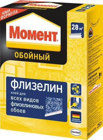 КЛЕЙ ОБОЙНЫЙ МОМЕНТ ФЛИЗЕЛИН 250 Г (1/24) ХЕНКЕЛЬ клей момент super pva 250 г
