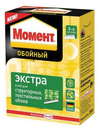 КЛЕЙ ОБОЙНЫЙ МОМЕНТ ЭКСТРА 250 Г (1/24) ХЕНКЕЛЬ клей момент super pva 250 г