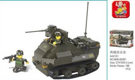 Конструктор SLUBAN Военный 179 элементов sluban конструктор военный спецназ бронетранспортёр с рлс sluban
