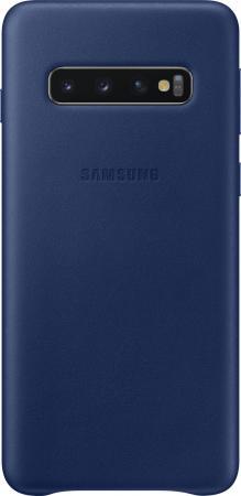 Чехол (клип-кейс) Samsung для Samsung Galaxy S10 Leather Cover темно-синий (EF-VG973LNEGRU) чехол клип кейс samsung для samsung galaxy s10e silicone cover темно синий ef pg970tnegru