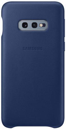 Чехол (клип-кейс) Samsung для Samsung Galaxy S10e Leather Cover темно-синий (EF-VG970LNEGRU) чехол клип кейс samsung для samsung galaxy s10 leather cover темно синий ef vg975lnegru