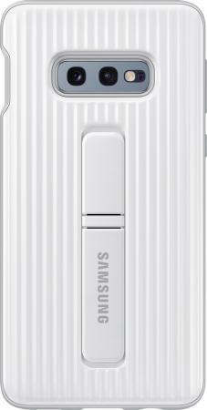 Чехол (клип-кейс) Samsung для Samsung Galaxy S10e Protective Standing Cover белый (EF-RG970CWEGRU) чехол клип кейс samsung для samsung galaxy s10 protective standing cover черный ef rg975cbegru
