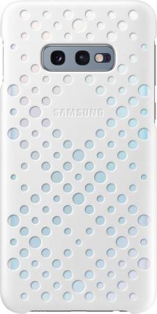 Чехол (клип-кейс) Samsung для Samsung Galaxy S10e Pattern Cover белый/желтый (EF-XG970CWEGRU) outdoor checked pattern artificial wool fringed shawl scarf