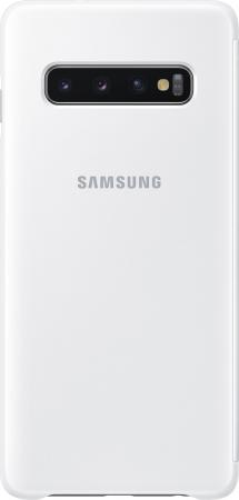 Чехол (флип-кейс) Samsung для Samsung Galaxy S10 Clear View Cover белый (EF-ZG973CWEGRU) цена и фото