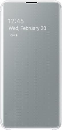 цена на Чехол (флип-кейс) Samsung для Samsung Galaxy S10e Clear View Cover белый (EF-ZG970CWEGRU)