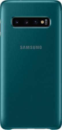 цена на Чехол (флип-кейс) Samsung для Samsung Galaxy S10 Clear View Cover зеленый (EF-ZG973CGEGRU)