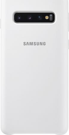 цена на Чехол (клип-кейс) Samsung для Samsung Galaxy S10 Silicone Cover белый (EF-PG973TWEGRU)