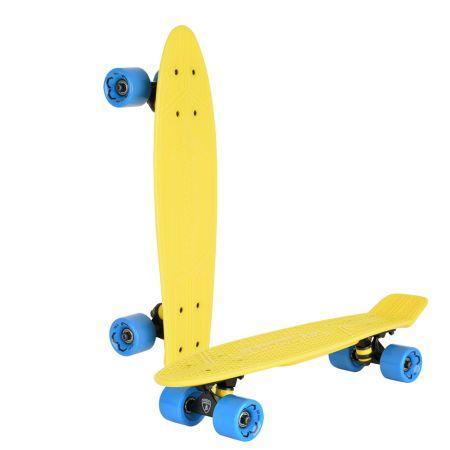 "Скейтборд ""Lamborghini"" 22*6 дюйма, колеса: PU 60*45мм, цвет: желтый"