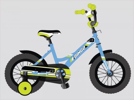 Велосипед двухколёсный Navigator BINGO 12 голубой-зеленый ВН12137 цена