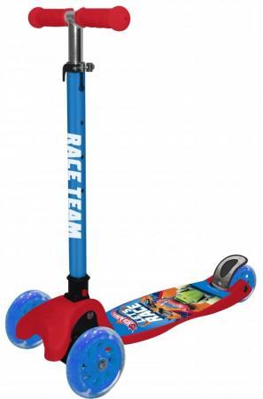 Самокат трехколёсный Hot Wheels (Mattel) Т14761 120/80 мм разноцветный самокат 3 х колесный next mattel hot wheels st alu 2rw hw
