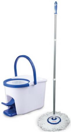 Набор для уборки ЛАЙМА, ведро 5 л с отжимом и педалью, швабра с круглой насадкой на липучке, 601459 цена