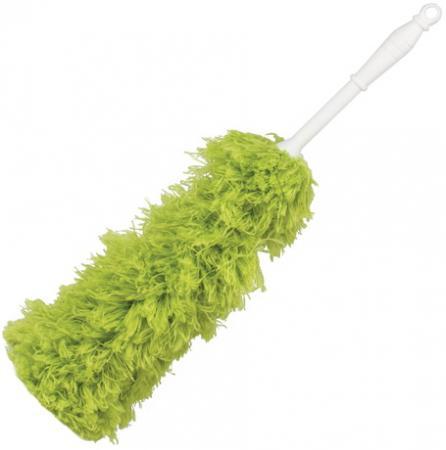 Сметка-метелка для смахивания пыли ЛАЙМА, 58 см, зеленая, 603618